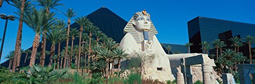 Posterazzi PPI161031S Panoramic View of Luxor Hotel with Pyramid and Sphinx Casino in Las Vegas NV Poster Print, 27 x 9