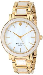 """kate spade new york Women's 1YRU0394 """"Gramercy"""" Gold-Tone and Mother-of-Pearl Bracelet Watch"""