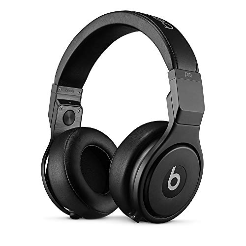 Beats by Dr Dre Pro Headphones – High Performance Professional Over-Ear Headphones, Infinite Black, Matt Finish (Renewed)