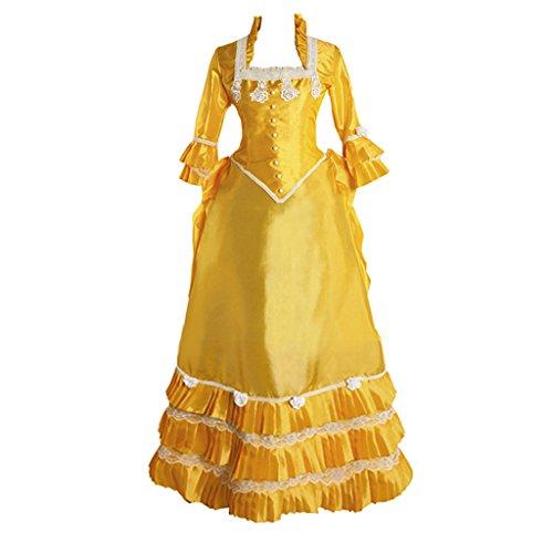 Cosplayitem Gothic Mittelalterliche Kleid Abendkleid Konzert Barocken Viktorianischen Frauen Rokoko Maskerade Leistung Elegante Gelb Kostüm F4qHFar