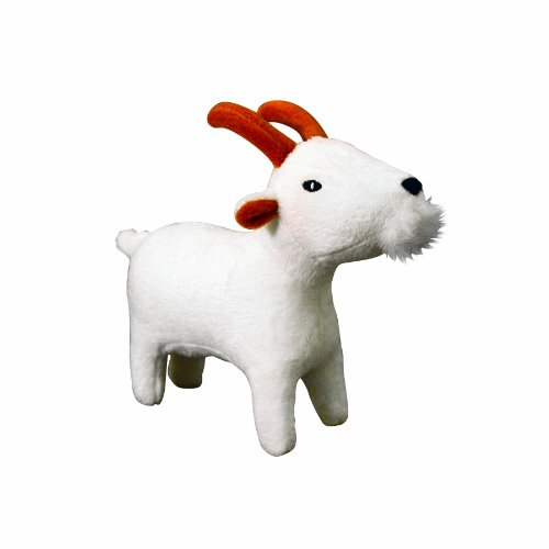 VIP Products Mighty Grady Goat Jr. Farm Dog Toy, White, My Pet Supplies