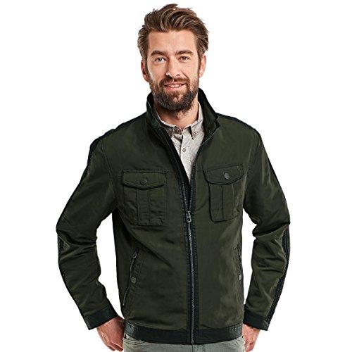 engbers Herren Jacke mit modischem Materialmix, 23151, Grün
