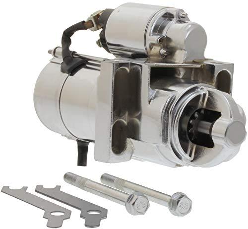 - SBC BBC 305 350 454 Chrome Chevy Staggered Bolt Mini Starter 3HP 6449C