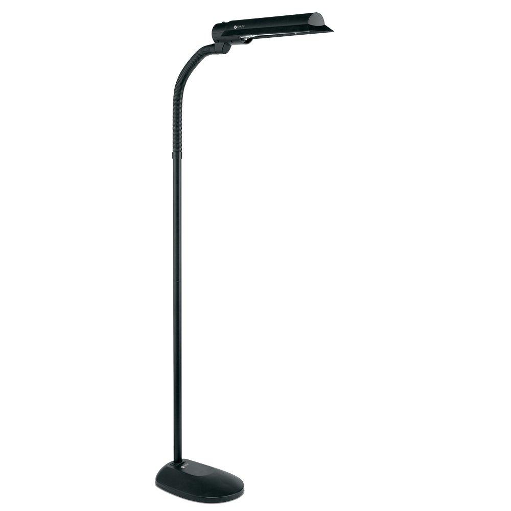 OttLite T81G5T-SHPR 18w WingShade Floor Lamp, Black