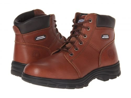 SKECHERS Work(スケッチャーズ) メンズ 男性用 シューズ 靴 ブーツ 安全靴 ワーカーブーツ Workshire Relaxed Fit Brown [並行輸入品] B07FJLNKTN 8 E Wide
