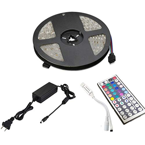 Akabsh LED Strip Lights with Remote 5M 5050 RGB Flexible Color Changing Full Kit with1, for Home & Kitchen and Indoor and Outdoor