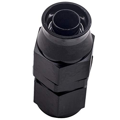 maXpeedingrods 10AN 20FT Stainless Steel PTFE/Teflon Fuel Line AN10 Fitting Swivel Hose Kit AN10 20Feet - Black by maXpeedingrods (Image #2)