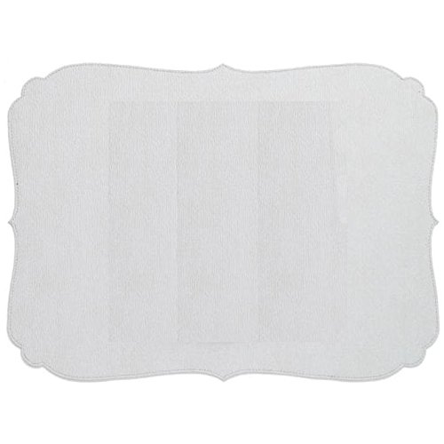 Bodrum Curly Antique white EasyCare Placemats, set of 6
