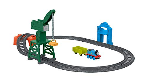 Thomas & Friends Fisher-Price Push-Along Playset A Toy, Multicolor GFJ76 (Thomas And Friends Cranky At The Docks)