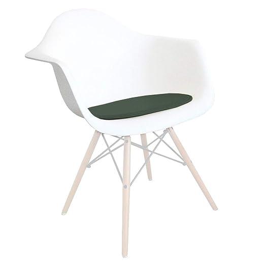 Decopresto Venta 1 x Almohadilla Personalizada para la Silla Eiffel Material: imitación de Cuero Color: Cactus Verde DP-PADA-VK-1P