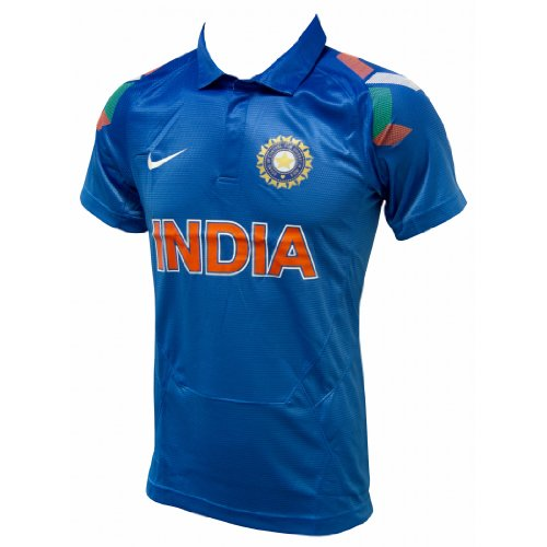 Nike Team India Official ODI Cricket Jersey 2014, Short Sleeves