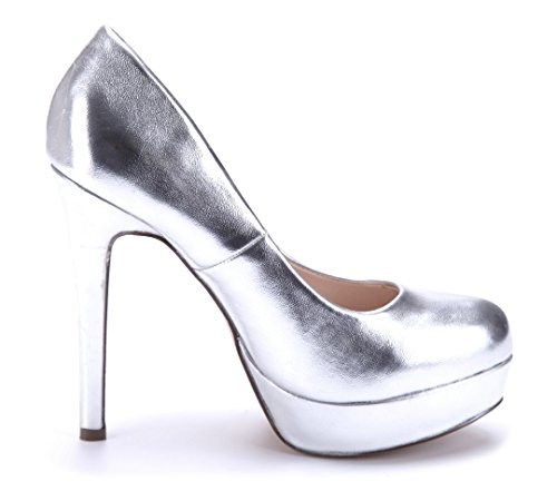 Schuhtempel24 Damen Schuhe Plateau Pumps Stiletto 13 cm High Heels Silber