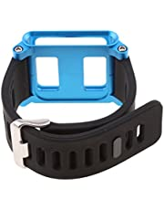 Silicone Wrist Strap Bracelet Case Cover for Apple iPod Nano 6 6th Generation Watch Band - Blue