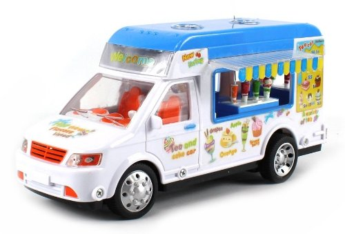 Mobile Food Electric RC Truck Restaurant Lunch Van 1:18 Scale Ready To Run RTR w/ Slide Out Canopies & Drink Bars (Colors May Vary)
