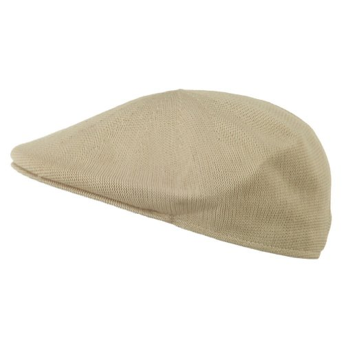 7e436861a9a Mens Knitted Polyester Ivy Ascot Newsboy Hat Cap Khaki Tan - Import It All