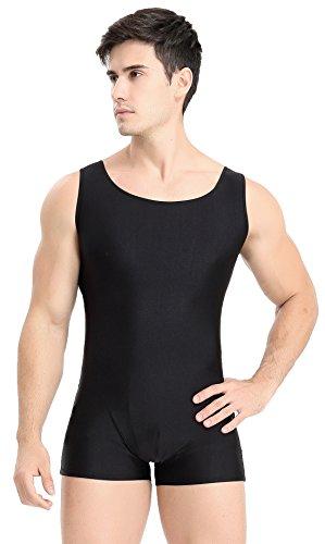 Dancewear Unitard (Speerise Adult Lycra Spandex Short Tank Unitard Dancewear Biketard)