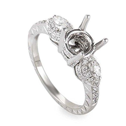 Gold Mounting Diamond (Natalie K 14K White Gold Diamond Mounting Ring NAK27-062813)