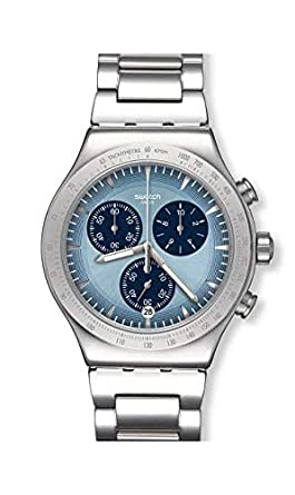 bas prix f1fcd 33449 Montre Swatch Irony Chrono YVS459G Sky Icon: Amazon.fr: Montres