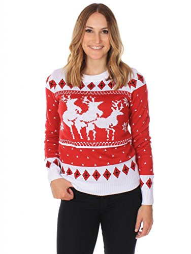Amazon.com: Women's Ugly Christmas Sweater - The Menage A Trois ...