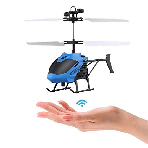 SJOO Flying Helicopter RC Toys for Kids, Rechargeable Infrared Induction Drone Helicopter