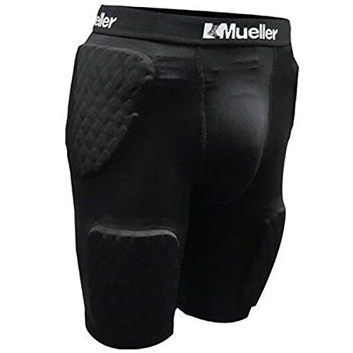 Mueller Diamond Pad 5-Piece Shorts, Adult, Black