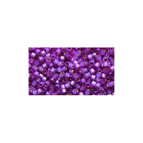 Miyuki Delica Seed Bead 11/0 DB2180, Duracoat Silver Lined Orchid Satin, 9-Gram/Pack
