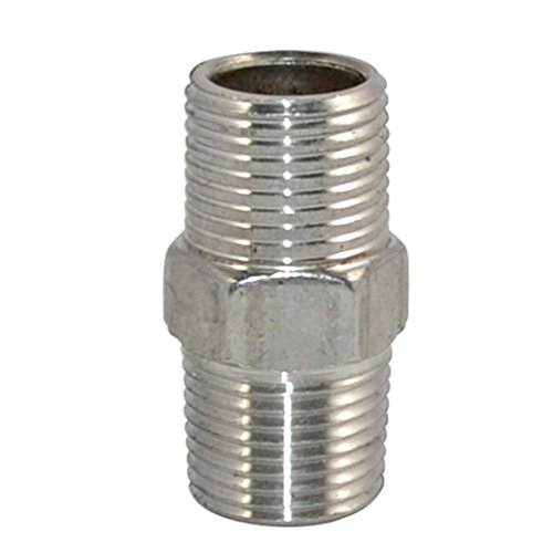 """Piupe Staninless Steel 3/8"""" Male x 3/8"""" Male Hex Nipple Threaded Pipe Fitting NPT SS 304 New"""