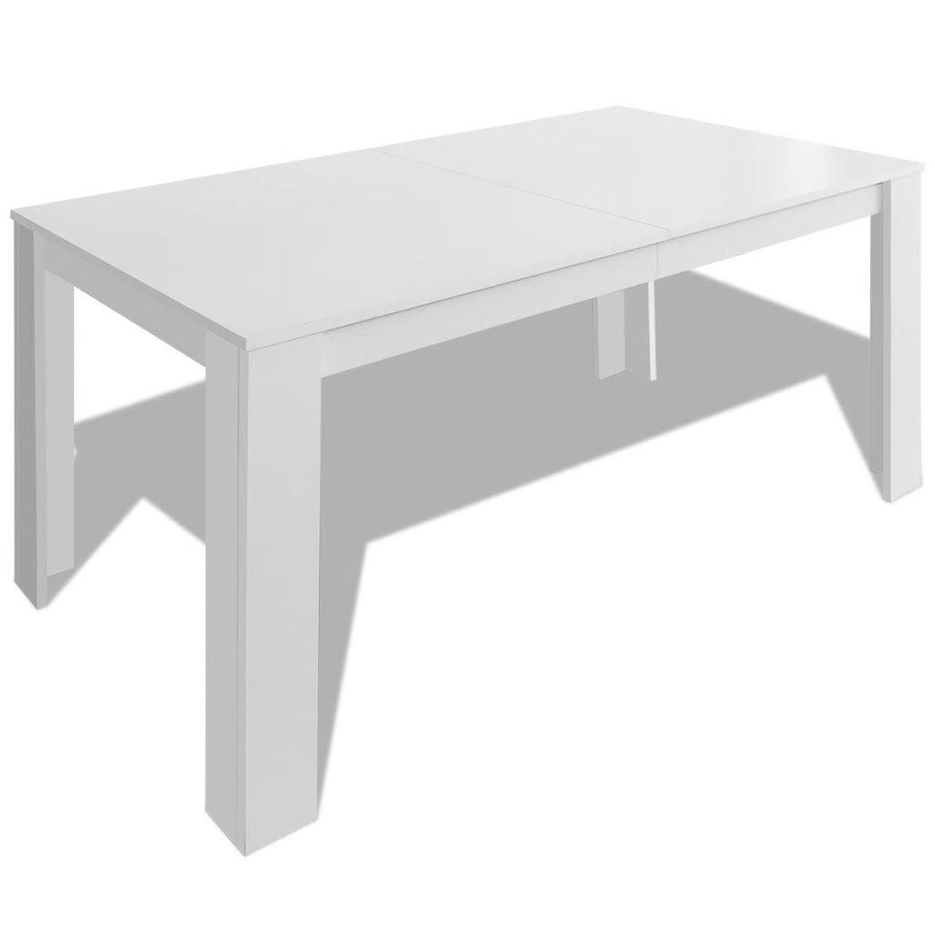 Gecheer Dining Table 140 X 80 X 75 Cm White Amazon Co Uk Kitchen