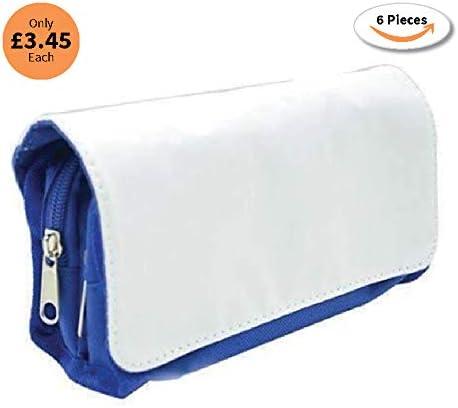 6 estuches de sublimación, 7 x 21 cm, color azul: Amazon.es: Hogar