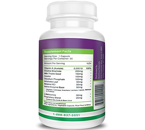 Liver-Cleanse-Liver-Detox--Promotes-Liver-Function--Milk-Thistle-Artichoke-leaf-Choline-Enzymes--Dairy-Free-Gluten-Free-Non-GMO-All-Natural-Made-in-USA