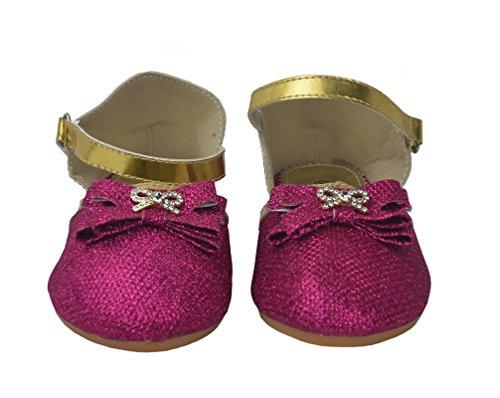 ballerina fibbia piatta scarpe con colorato Comfort lucido Donne AqXIZqE