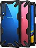 Ringke Fusion-X [Black] Designed for Galaxy A7 2018 Case Cover Clear Dot PC Back with Rugged TPU Bumper Anti Rainbow Effect [Straps Access Design] for Galaxy A7 2018