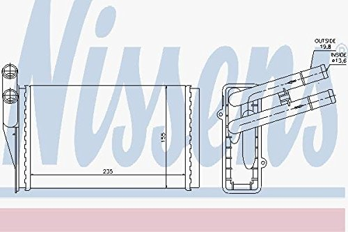 Nissens 70224 Heat Exchanger, Interior Heating Nissens A/S