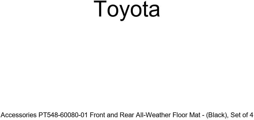Genuine Toyota Accessories PT548-60080-01 Front and Rear All-Weather Floor Mat - Black Set of 4