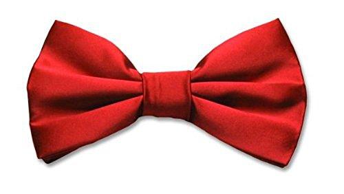 BOWTIE 100% SILK Solid RED Men's Bow Tie Tuxedo Ties BowTies (Red Bow Tie)