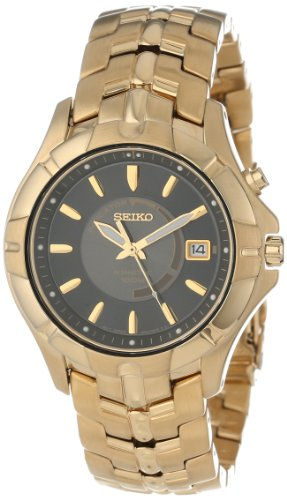 Seiko Men's SKA404 Kinetic Gold-Tone Watch