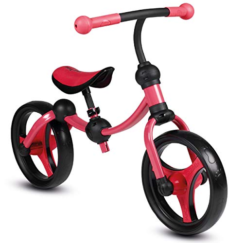 smarTrike Balance Bike 2 in 1 Adjustable Toddler Running Bike, Red
