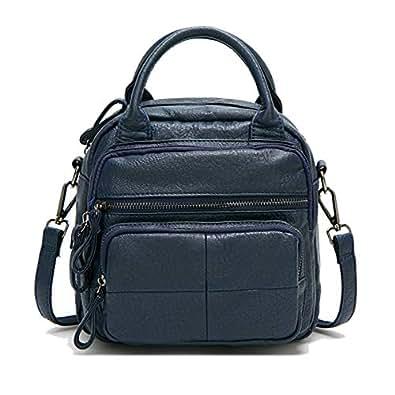 Backpack for women Fashion Leather Ladies Rucksack Crossbody Shoulder Bag 2pcs Purses Backpack Set Size: Medium
