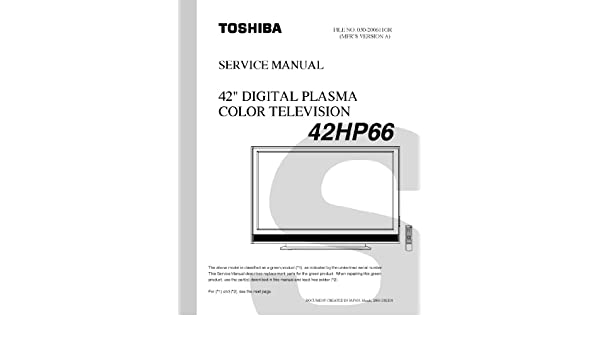 toshiba 42hp66 service manual toshiba amazon com books rh amazon com TV Base Stand Plasma TV
