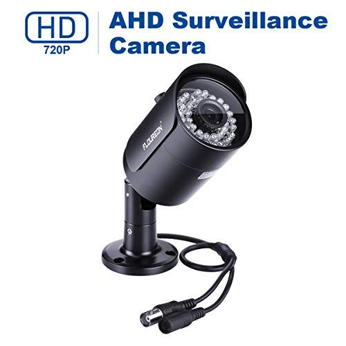 FLOUREON House Camera 720P 1500TVL AHD CCTV DVR House Security System, Outdoor Camera Surveillance Security with Long Distance Night Vision (Black)
