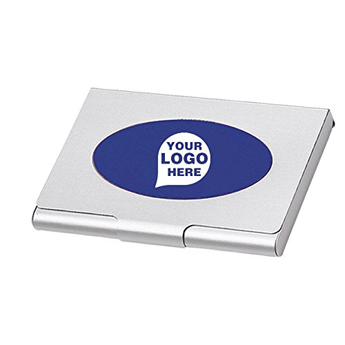 Saturn Business Card Holder - 100 Quantity - $2.49 Each - PROMOTIONAL PRODUCT / BULK / BRANDED with YOUR LOGO / CUSTOMIZED by CloseoutPromo