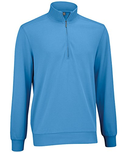 Ashworth Men's Mesh Back Half-Zip Pullover - Azure - Small