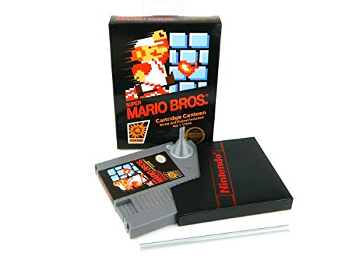Super Mario Bros NES Cartridge 5-Ounce Flask | Licensed Nintendo Merchandise | Novelty Beverage Holder | Perfect For Birthdays, Holidays, Graduation, Bachelor and Bachelorette Parties           ]()