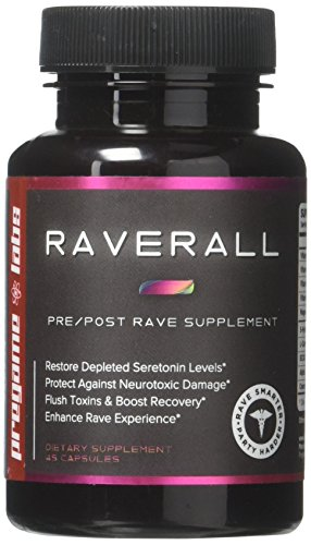 RAVERALL - 2019's Best Rave & Festival Recovery Supplement   No Comedowns, No Jaw Clenching, Protects Your Brain,   Custom Formula for Ravers Only   Super Effective & Easy