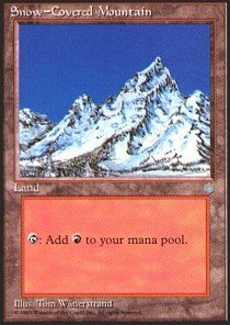 Magic: the Gathering - Snow-Covered Mountain - Ice Age