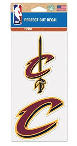 NBA Cleveland Cavaliers 4 x 8 Set of Two Perfect Cut Decals
