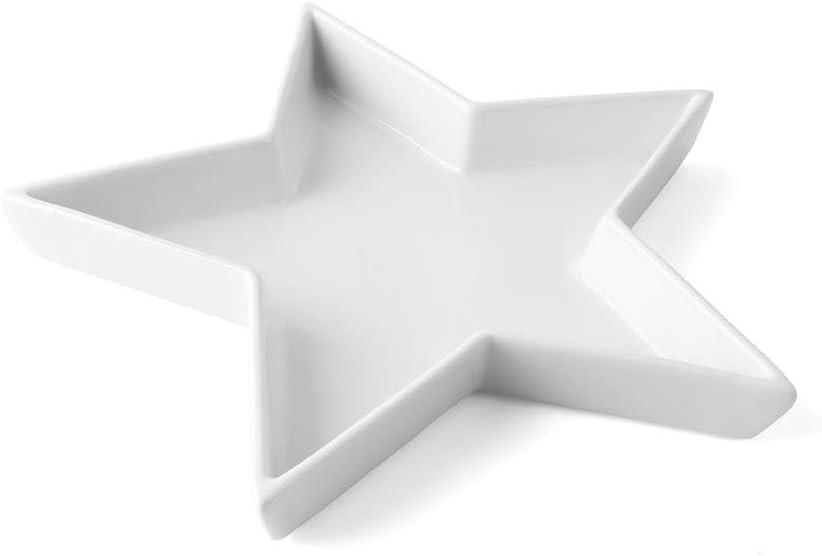 Sternschale weiß ca 3 x 33,0 x 33,0 cm Porzellanteller H//L//B