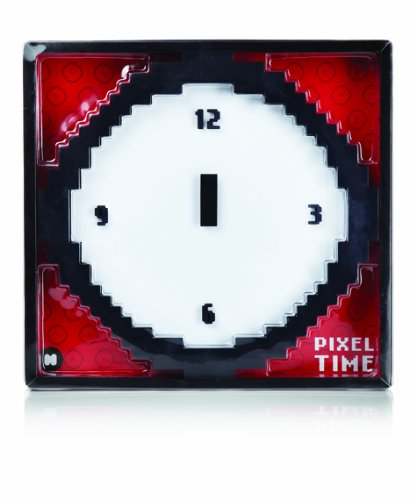 Wall Clock - Black White Pixel Time - Pixelated-look wall clock Features pixelated numbers and pointers Supplied with wall hanger - wall-clocks, living-room-decor, living-room - 41s0xZU YhL -