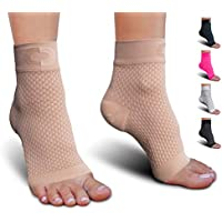 Plantar Fasciitis Socks with Arch Support for Men & Women - Best Ankle Compression Socks for Foot and Heel Pain Relief - Better Than Night Splint Brace, Orthotics, Inserts, Insoles