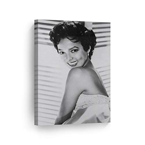 Dorothy Dandridge with Beautiful Smile Black and White Wall Art Canvas Print Beautiful African American Icon Artwork Home Decor Wall Decor Stretched Ready to Hang- 100 Handmade in The USA – 36×24